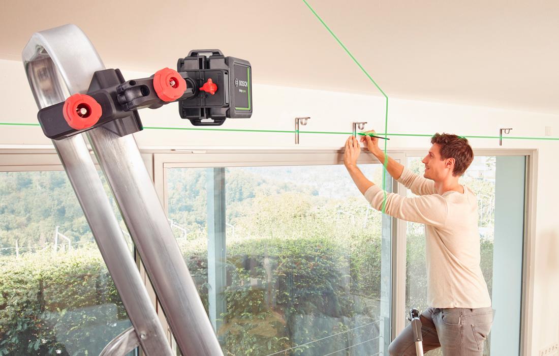 Линейный лазерный нивелир Bosch Quigo Green