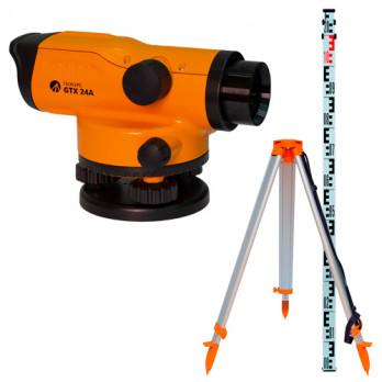 Оптический нивелир Геокурс GTX 24A + штатив + рейка